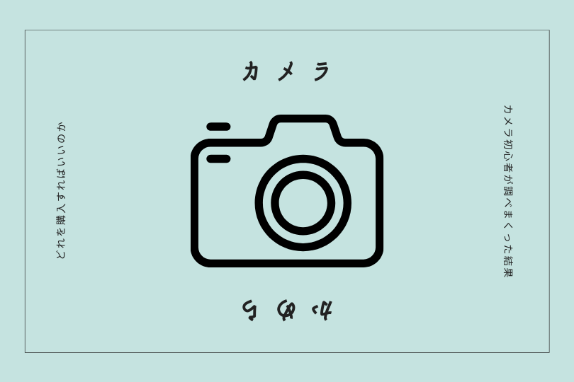カメラを使ったことのない僕が、どのカメラを購入するべきかを考えてみました。(オススメのカメラ)